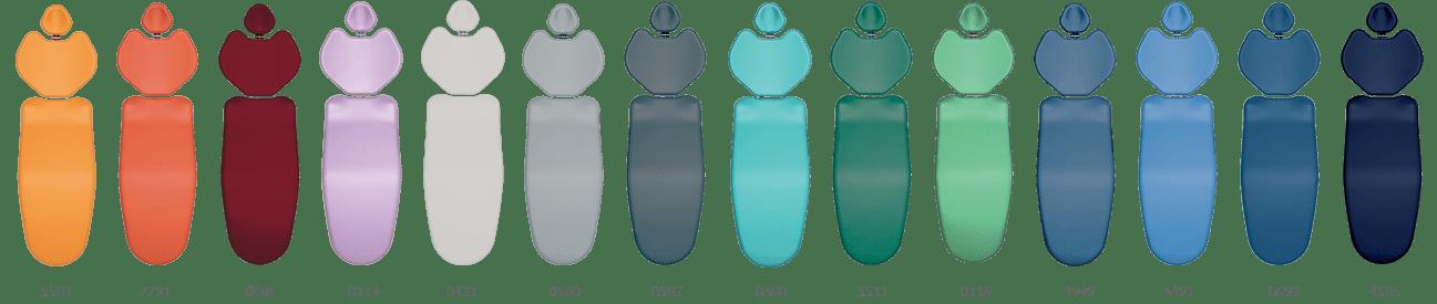 Riuniti Vitali: colori delle sedute